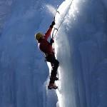 subindo a montanha gelada