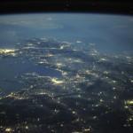Imagem das ilhas gregas vistas de cima copiada do site de um astronauta da NASA
