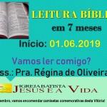 Leitura Bíblica em 7 meses-01.06.2019